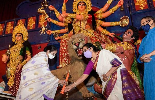 Mamata Banerjee urges residents of old age home to stay indoors during Durga Puja