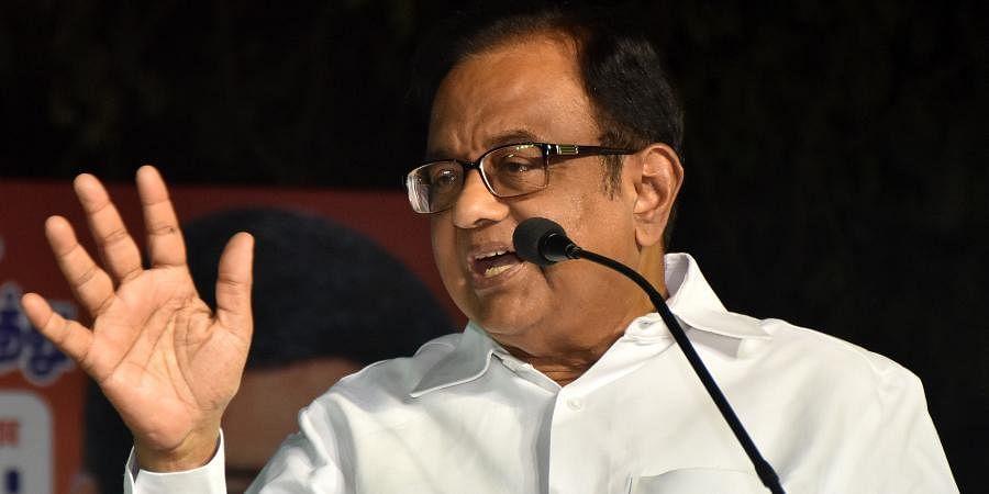 Congress leader and former Finance Minister P Chidambaram