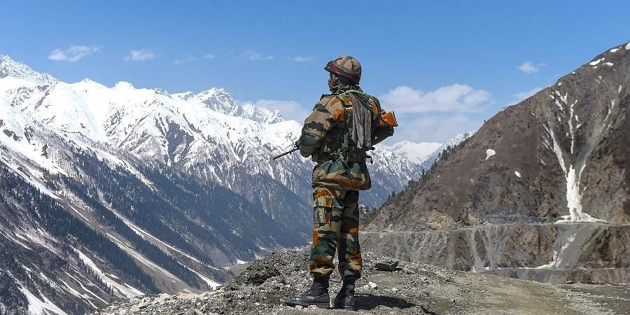 Indian Army jawan in Ladakh