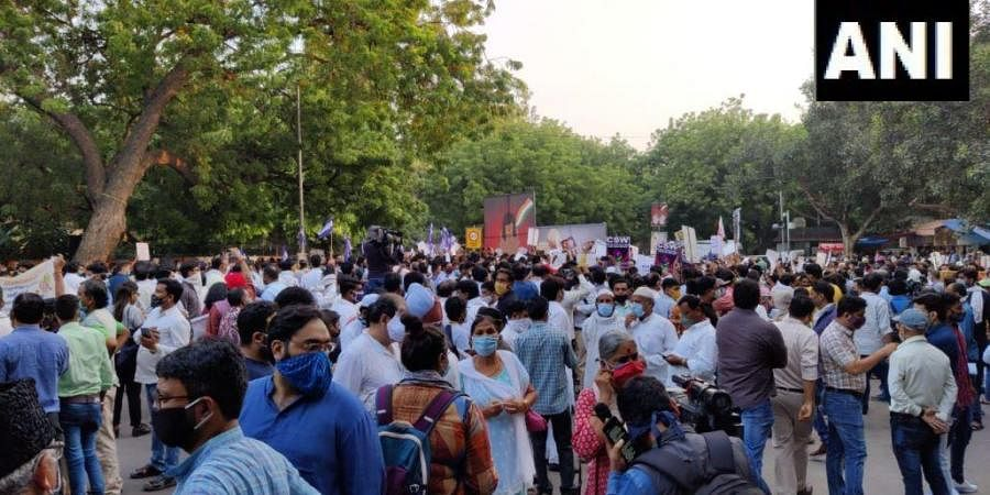Civil society activists, students, women and members of various political outfits gathered at the Jantar Mantar here on Friday