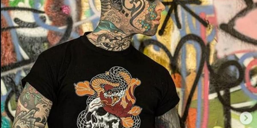 School Teacher By Day Freaky Hoody By Night Meet France S Most Tattooed Man The New Indian Express