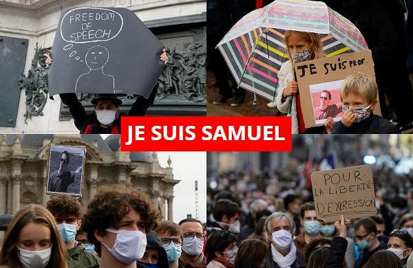 Demonstrations around France have been called in support of freedom of speech and to pay tribute to a French history teacher who was beheaded near Paris after discussing caricatures of Prophet Muhammad with his class. Samuel Paty was beheaded on Friday by a 18-year-old Moscow-born Chechen refugee who was shot dead by police.