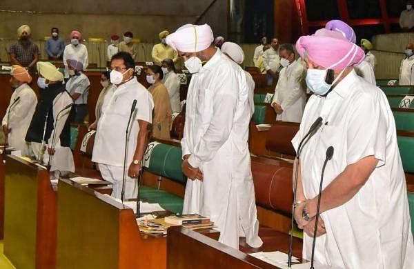 Punjab assembly witnesses ruckus over agri laws