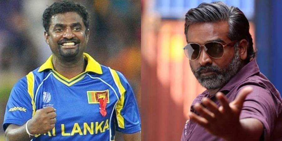 Sri Lankan spinner Muttiah Muralitharan (L) and actor Vijay Sethupathi (R)