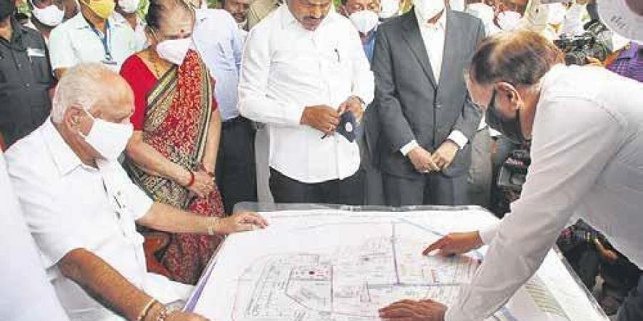 Chief Minister BS Yediyurappa at Shikaripura on Tuesday | ShimogaNandan