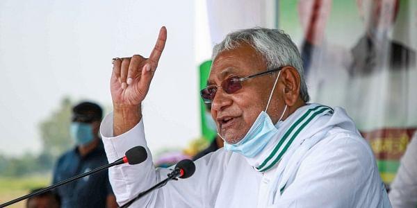 Bihar Chief Minister Nitish Kumar during a joint rally in Bihar. (Photo | PTI)