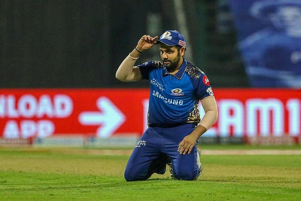 Mumbai Indians Skipper Rohit Sharma during the first cricket match of IPL 2020. (Photo | PTI)
