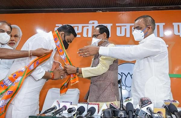 Bolt from the blue: MP Congress MLA Rahul Singh quits party to join BJP ahead of bypolls
