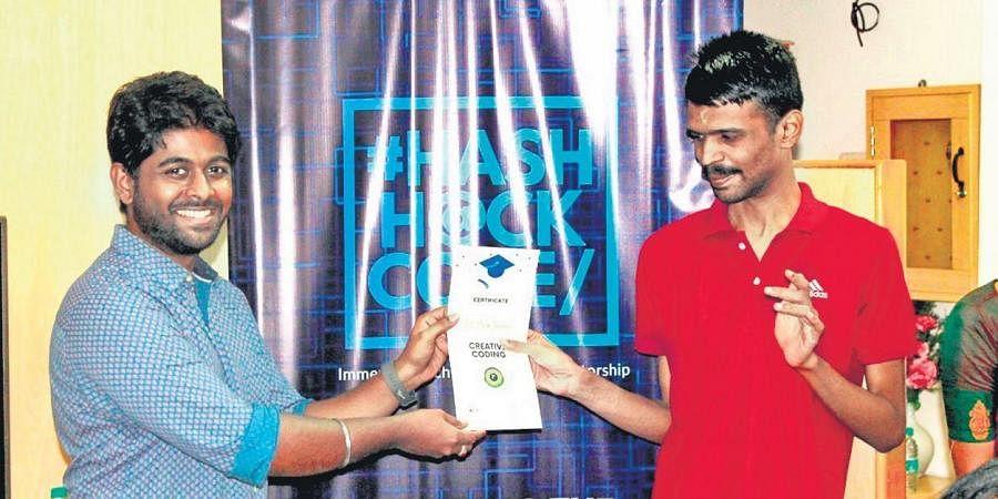 Prem with Manu Sekar, founder of HashHackCode