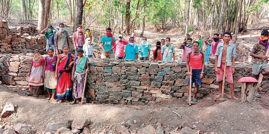 The forest department project to rejuvenate water channels and river drains has reduced run-off during rains, checked soil erosion and retained groundwater (Photo | Express)