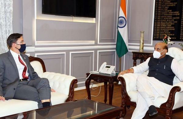 US Secretary of Defence Mark Esper meets Defence Minister Rajnath Singh