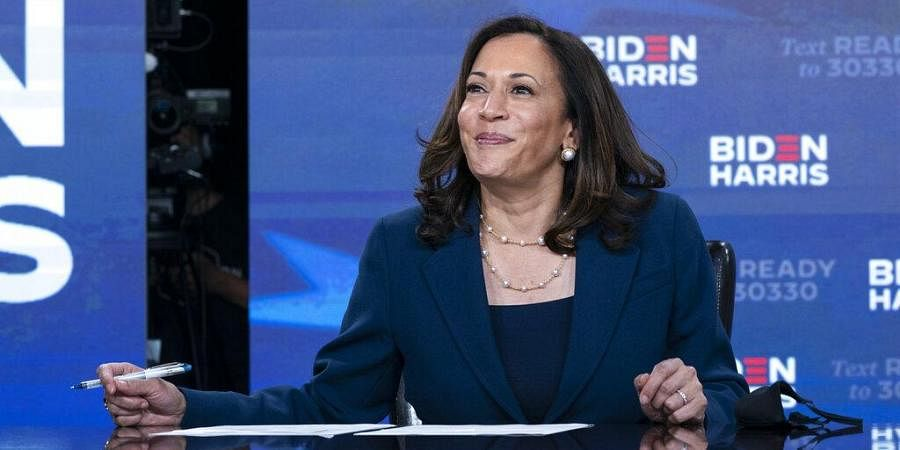 US Democratic Party Vice Presidential candidate Kamala Harris