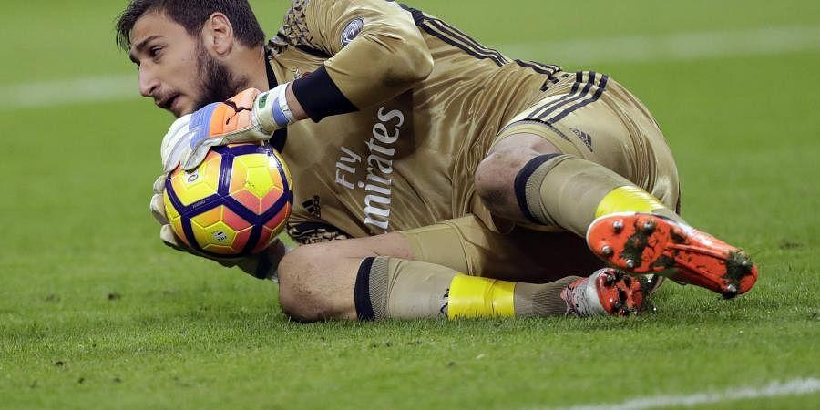 AC Milan goalkeeper Gianluigi Donnarumma