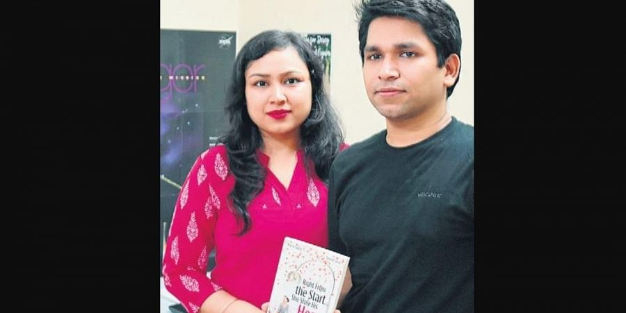 Siblings and co-authors Prachi and  Sanchit Gupta with their  new book.