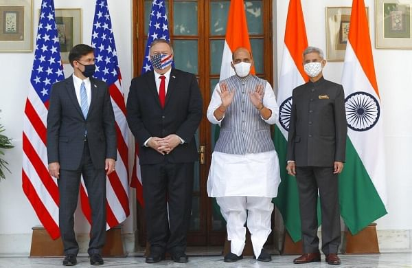 With eye on containing China, India, US hold third edition of 2+2 talks