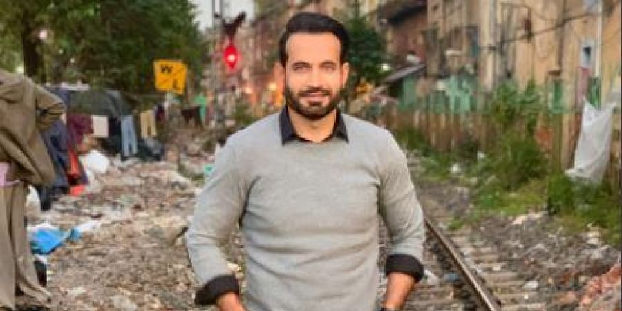 Irfan Pathan during the shoot of 'Cobra'