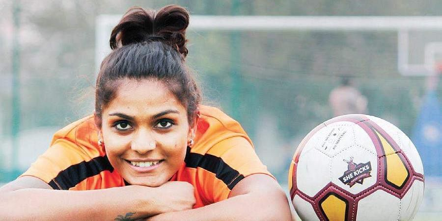 Aditi Chauhan is India's first woman to play in the Premier League in the United Kingdom - West Ham United Football Club, and to be awarded Asian Woman Footballer of the Year in 2016
