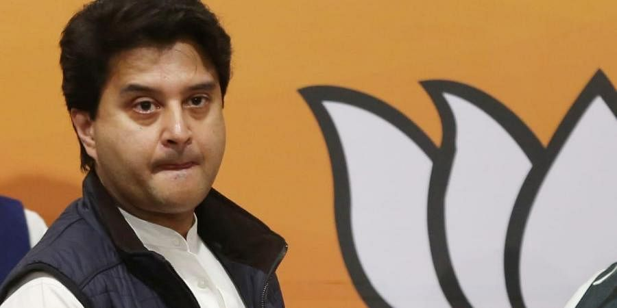 BJP leader and Rajya Sabha MP Jyotiraditya Scindia. (Photo | EPS, Shekhar Yadav)
