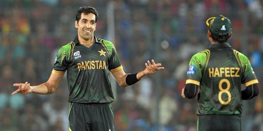Former Pakistan bowler Umar Gul (L). (Photo | AFP)