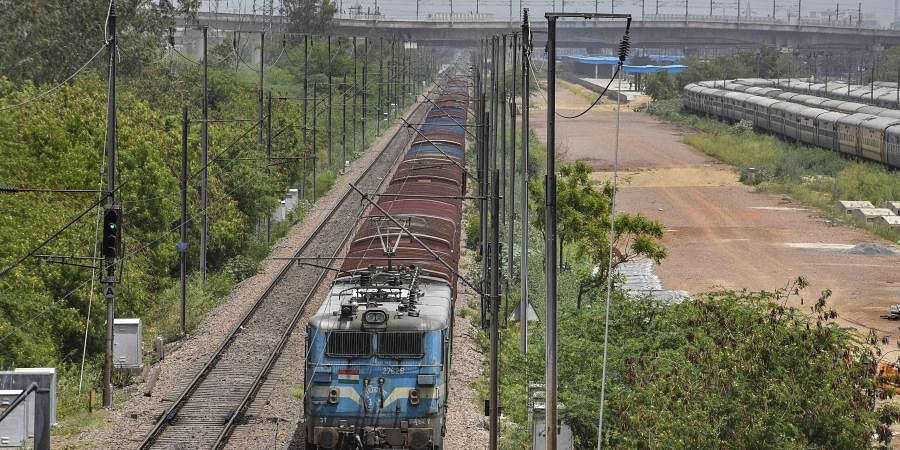 Railway freight trains remain operation during the nationwide COVID-19 lockdown.