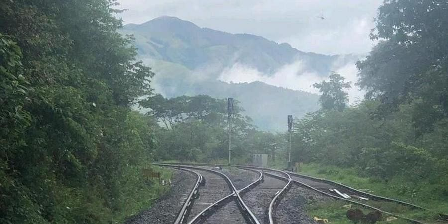 Railway tracks in ghat section between Sakleshpur and Subramanya Road where the signalling system was upgraded to enhance safety of trains.