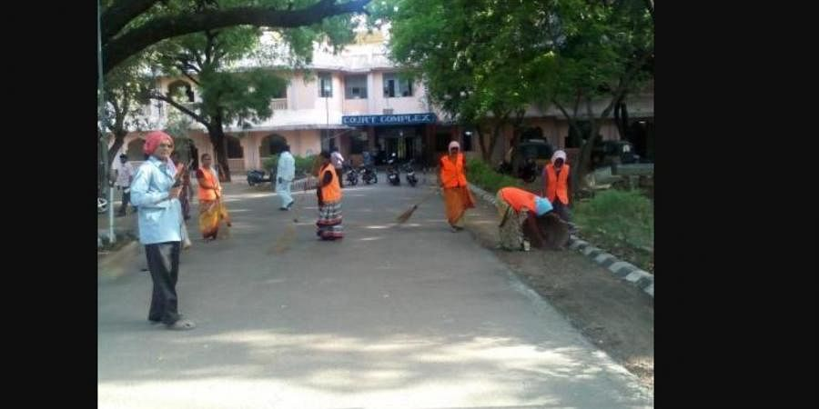 File photo of Cleanliness drive undertaken by the Guntur Municipal Corporation (File Photo | Swachh Bharat Urban, Twitter)