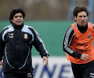 After his retirement in 1994, Maradona returned again in Argentina services, this time as a coach. During 2008-10, while his team faced a horrible 1-6 defeat against Bolivia, the Argentine legend served a two-month ban from FIFA for using abusive language during press meets. In 2010 World Cup, Argentina got knocked out in the quarters after a 0-4 defeat against Germany. (File | AP)