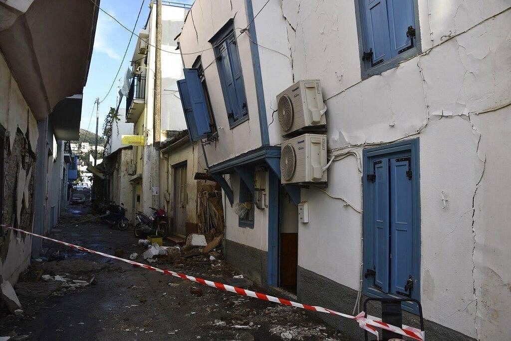 Greek public television said the quake also caused a mini-tsunami on the eastern Aegean Sea island of Samos, damaged homes and injured at least four people. (Photo | AP)