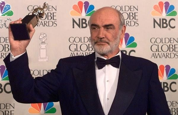 In this photo dated Sunday, Jan. 21, 1996, Sean Connery is honored at the Golden Globe Awards, in Beverly Hills, Calif., USA, when he received the Cecil B. DeMille Award.