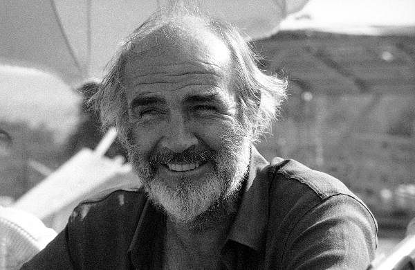 This Oct. 16, 1985 photo shows actor Sean Connery on the set of 'The Name of the Rose' in Rome, Italy.
