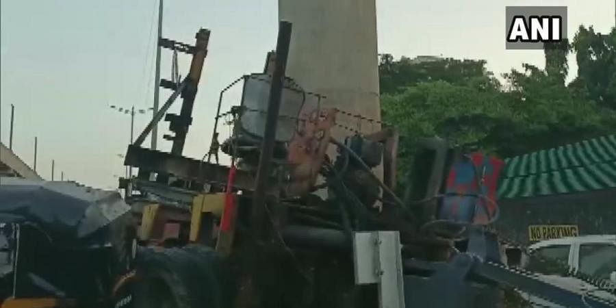 The crane accident took place near a bus stop at Andheri Gundavali