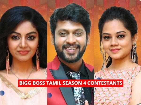 Here is the list of contestants in the fourth season of popular reality show Bigg Boss in Tamil hosted by Kamal Haasan.