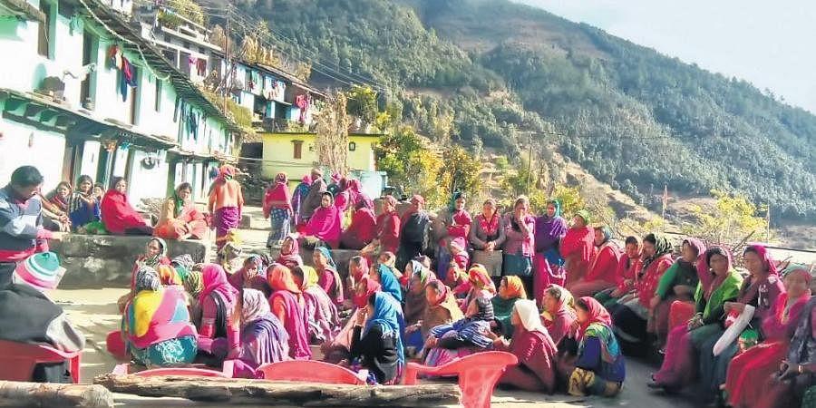 Women attending a meeting under HavePure initiative;
