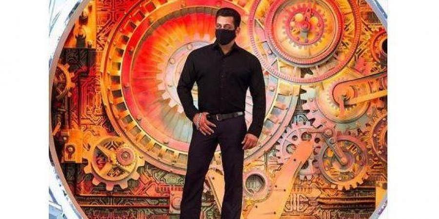 Salman Khan on Bigg Boss 14 set