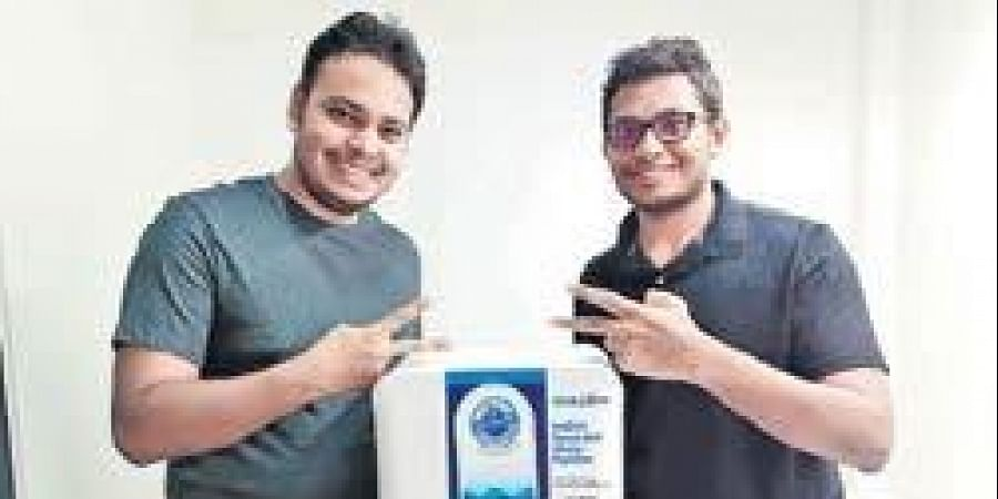 Manas along with Vijender Reddy founded the company in 2016, where they built a water purifier
