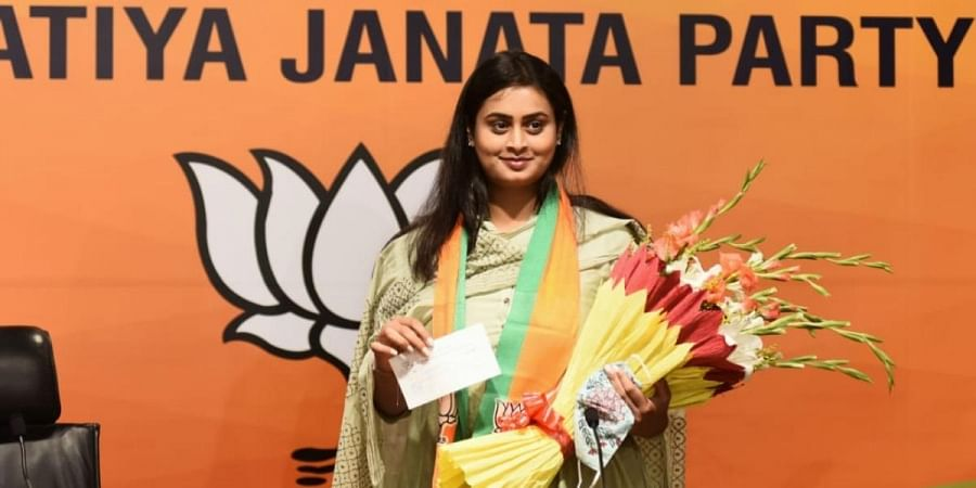Arjuna awardee Shreyasi Singh joins BJP in presence of party leader Bhupendra Yadav