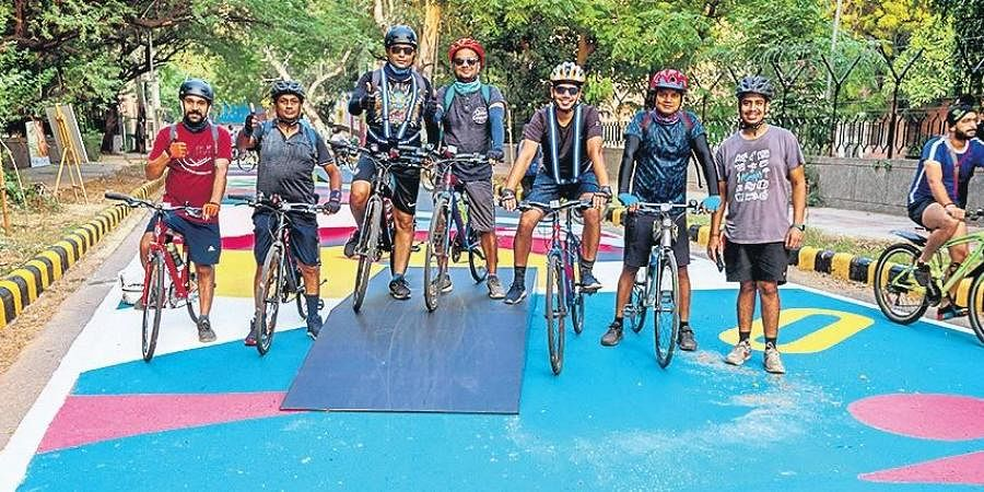 Cycling tracks at Lodhi Colony and Lodhi Garden.