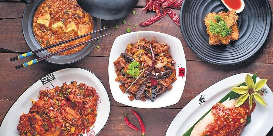 A spread of Oriental dishes from Berco's