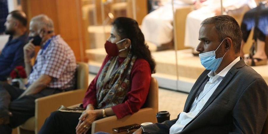 Sundar Raman and Brijesh Patel, chairman of the IPL Governing Council. (Photo | IPL)