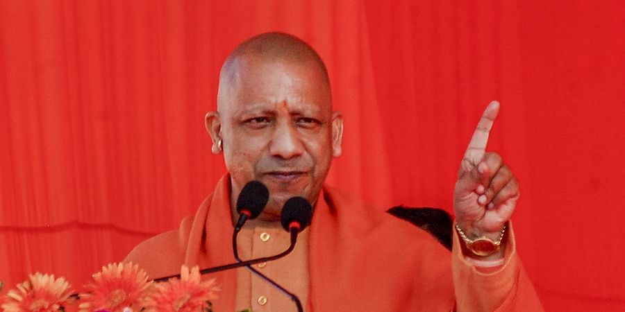 Uttar Pradesh Chief Minister Yogi Adityanath speaks during a pro-CAA rally in Kanpur Wednesday Jan. 22 2020. (Photo | PTI)
