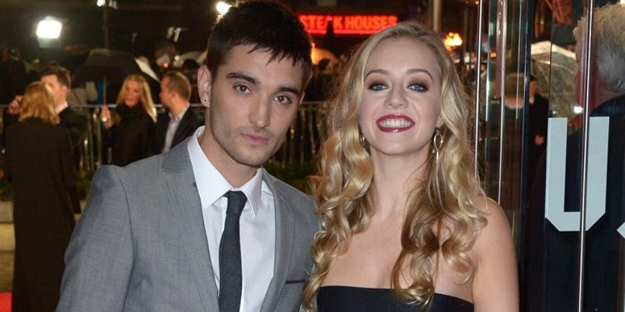 Singer Tom Parker with his wife Kelsey