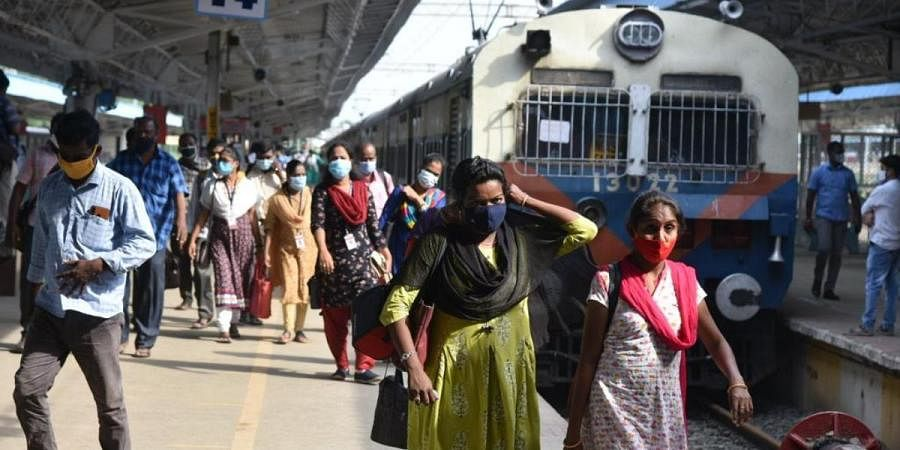 Government employees have been allowed to travel in suburban trains in Chennai
