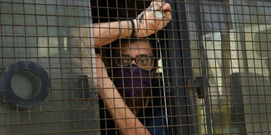 Republic TV Editor-in-Chief Arnab Goswami, who was arrested for allegedly abetting the suicide of a 53-year-old interior designer in 2018