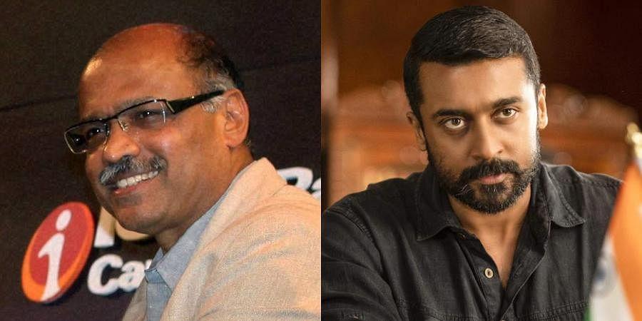 Air Deccan founder Captain GR Gopinath (L) and Kollywood actor Suriya