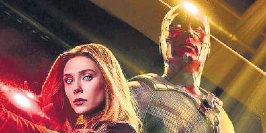 WandaVision stars Elizabeth Olsen and Paul Bettany