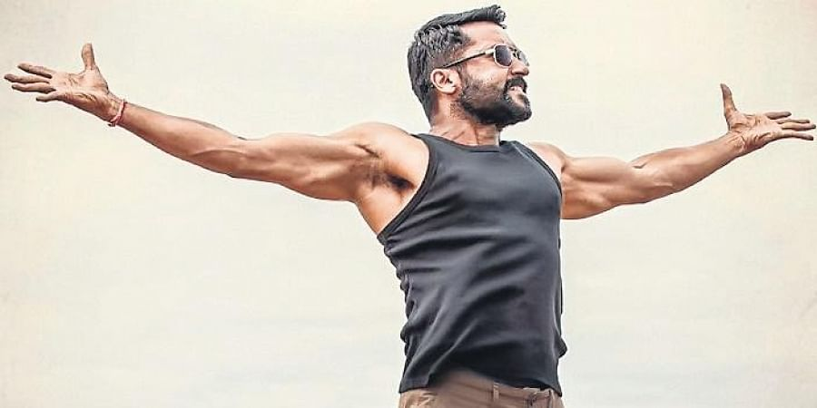 Suriya is back and this time he is in a film partly inspired by the life of Air Deccan founder GR Gopinath.