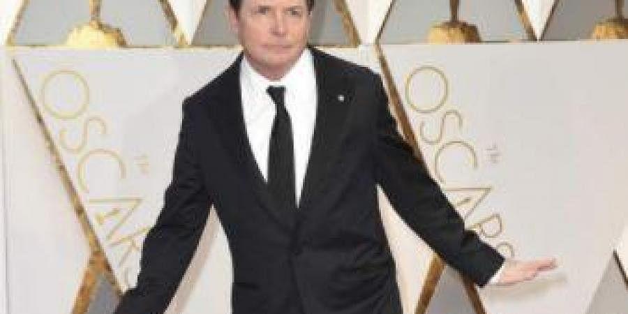 Michael J Fox strikes a pose.