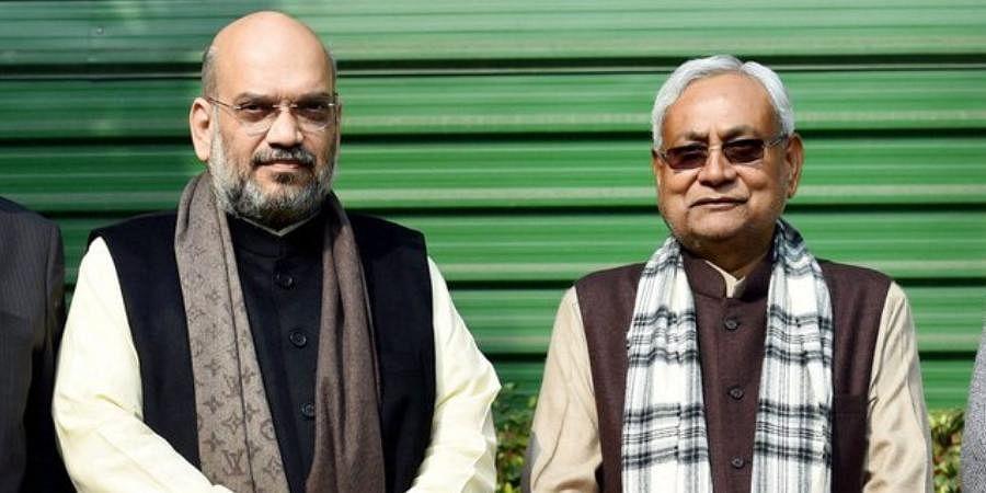 Union Home Minister Amit Shah with JD(U) chief Nitish Kumar