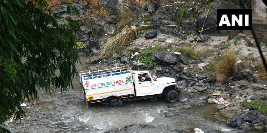 Seven killed, one injured after a vehicle fell down in Suketi Khad water stream near Pullghrat area of Mandi district at around 3 am today.
