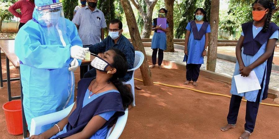 covid testing at schools, Tirupati
